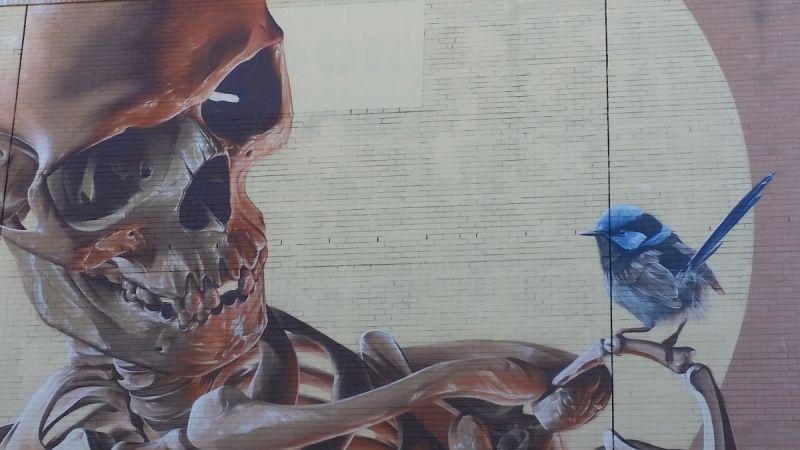 """Mortality Mural"": Closeup"