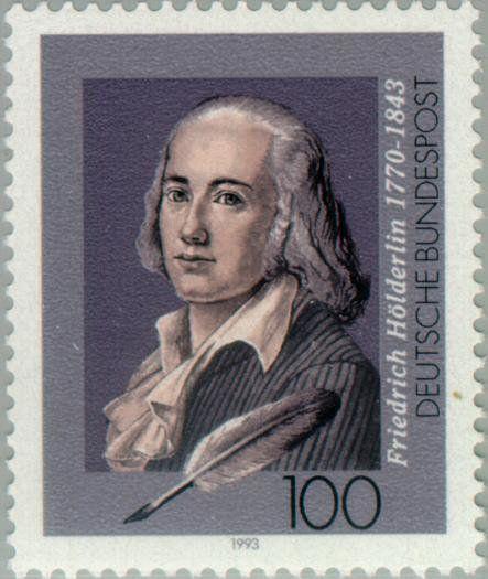 Hölderlin stamp, 150th anniversary