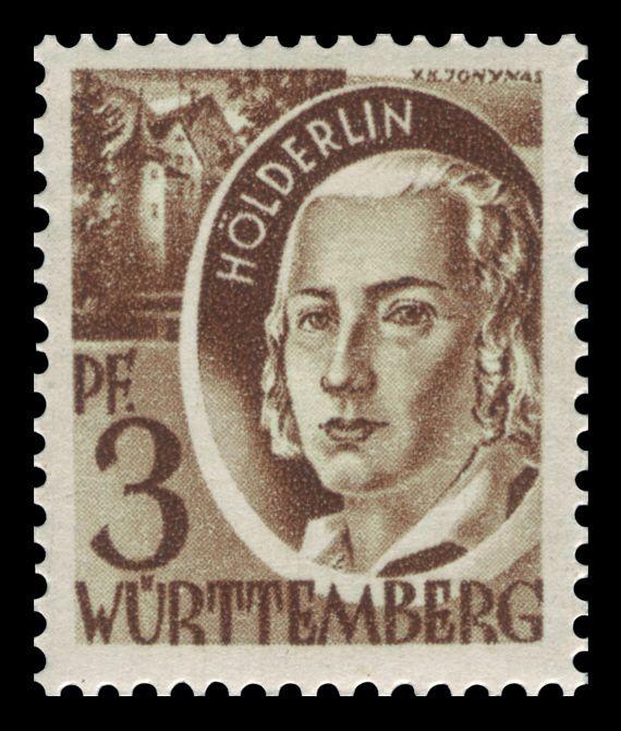 Hölderlin stamp, 1947