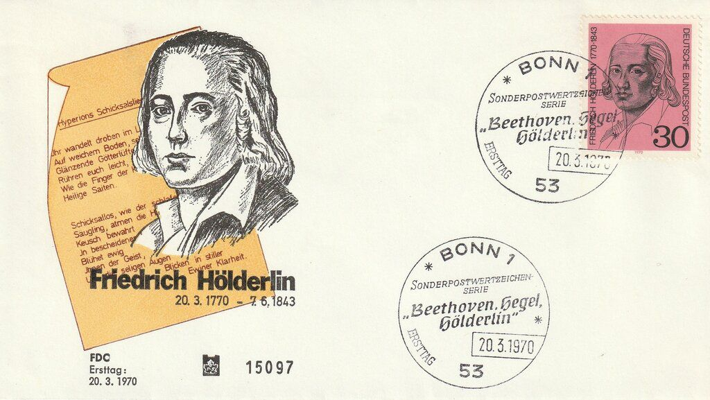 Hölderlin envelope, 1970